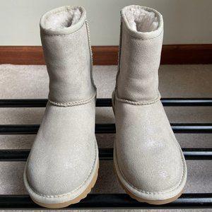 UGG Kids Classic Ii Shimmer Metallic Boots - NEW